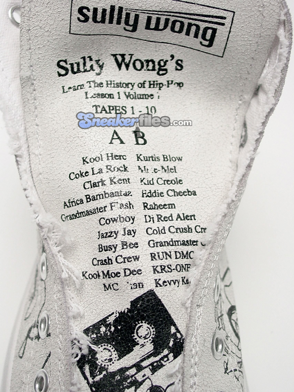 Sully Wong Hip-Hop Tribute Cassette Sneaker