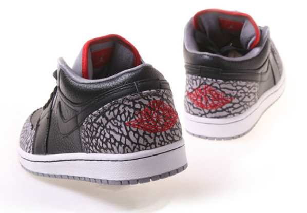 Air Jordan 1 Phat Low - Black / Varsity Red / White / Cement Grey