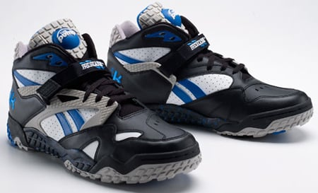 outlet store 2009a 2818a Reebok Pump Pay Dirt Mid - White   Blue   Grey