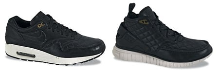 Nike Black Quilted Leather Pack - Air Max 1 | Free Hybrid Boot