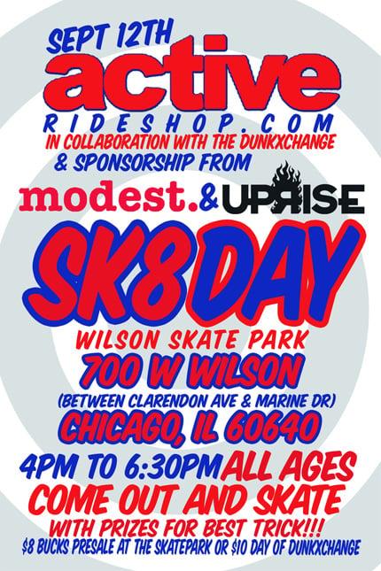 Chicago DunkXchange and Skating Event in 1 Week Reminder!