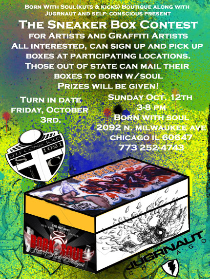 Sneaker Box Art Contest Party @ Born With Soul Kuts Kicks