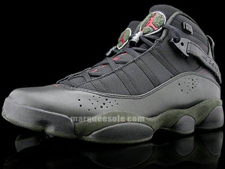 cac08afc46c Air Jordan Six Rings LS - Black / White / Dark Army / Varsity Red ...