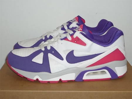 Nike Air Structure Triax 91 - White / Varsity Purple / Berry / Neutral Grey