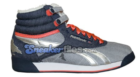 Reebok Womens Freestyle High - Denim