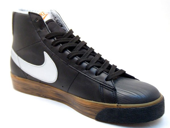 Nike Blazer High Premium - Game Select | Black / Silver / Wood