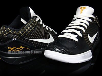 Nike Zoom Kobe 4 - Black / White / Maize
