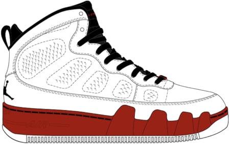 Jordans Drawing Air Jordan Force Fusion 9 ix