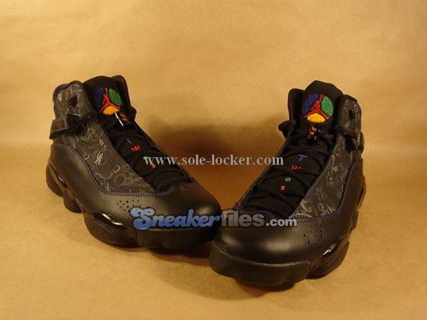 Air Jordan Six Rings - Black / Varsity Red - Classic Green - Varsity Purple