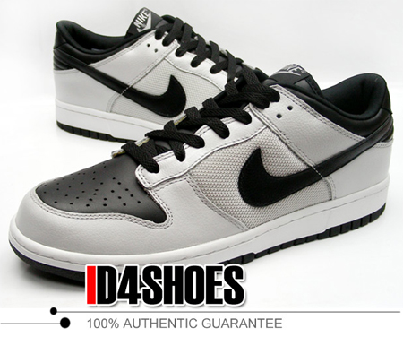 Nike Dunk Low - Metallic Silver / Black / White