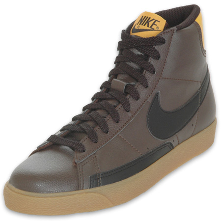 Nike NYX Blazer High - Dark Cinder / Black / Yellow Ochre