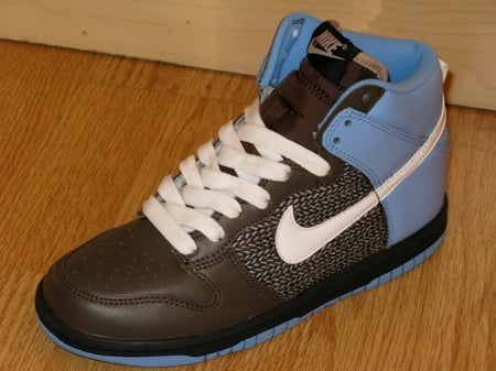 brown blue womens nike dunk