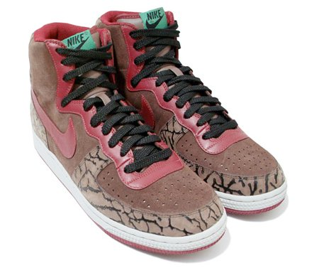 Nike Terminator High Premium - Brown / Green / Red