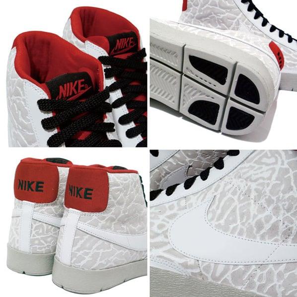 Nike Super Blazer High Premium - White / Red / Black