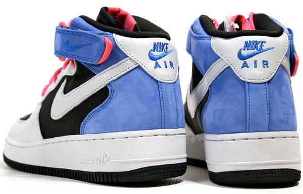 Nike Air Force 1 Premium Mid 07 - Black / Neutral Grey / Varsity Royal / Flamingo