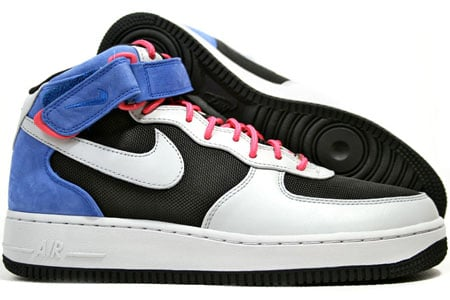 Nike Air Force 1 Premium Mid '07 - Black / Neutral Grey ...