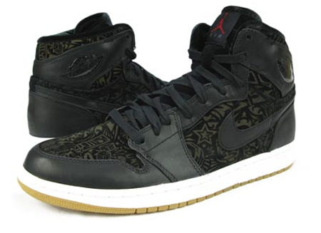 Air Jordan I (1) Retro High Premier - Black / White / Varsity Red |Laser