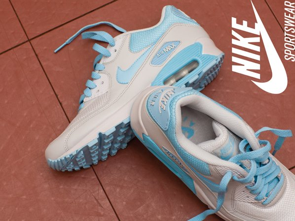 quality design 1510e 41277 Nike Sportswear Air Max 90 - Sky Blue   White
