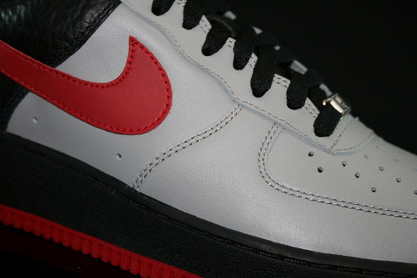 Nike Air Force 1 Medium Grey Varsity Red Black
