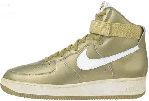 Nike Air Force 1 (Ones) 1993 High Metallic Gold / White