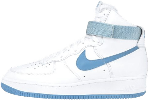Nike Air Force 1 (Ones) 1992 High White / Dark Powder Blue