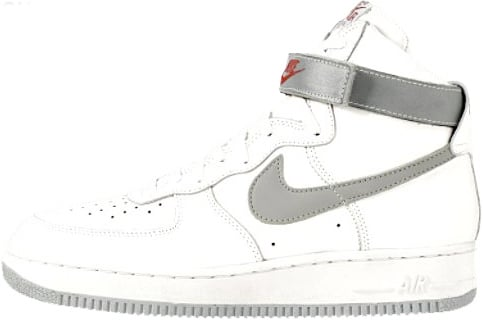 Nike Air Force 1 (Ones) 1993 High White / Metallic Silver - Atom Red