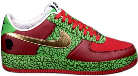 767b4a0d Nike Air Force 1 (Ones) Low Quest Love (?uestlove) Red / Green – Gold