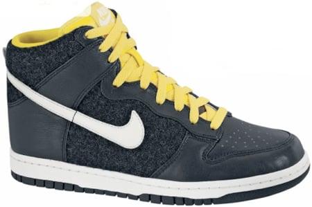 Nike Dunk High Premium Womens Black / Sail - Tour Yellow