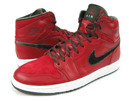 Air Jordan I (1) Retro High Premier - Varsity Red / Dark Army / White