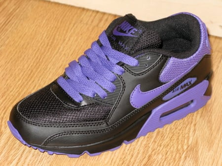 purple black nike air max 90 womens