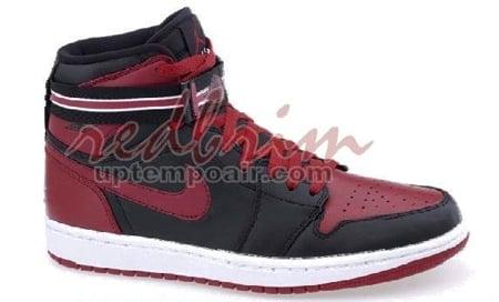 9f56a30eca8a Air Jordan I (1) Retro High Strap - Black   Varsity Red - White ...