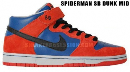 spider man dunk sb