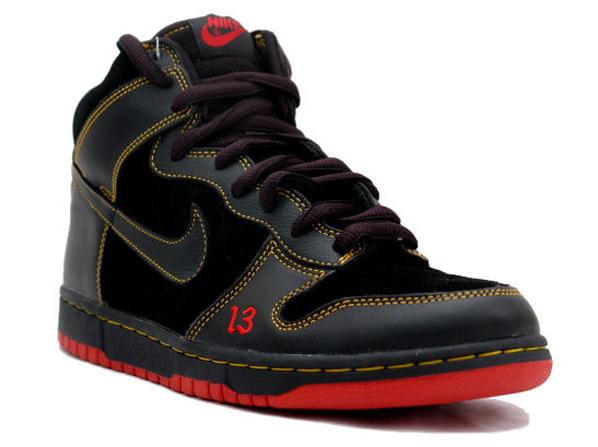 Halloween Shoes - Sneakers Nike SB Dunk High Unlucky