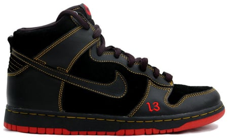 Halloween Shoes - Sneakers Nike SB Dunk High Unlucky
