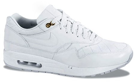 a89c35a258c5 Nike Air Max 1 - White Leather Quilted Pack