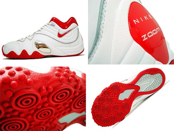 Nike Zoom Uptempo V - White / Varsity Red / Silver