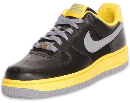 Nike Womens Air Force 1 - Black / Grey / Yellow