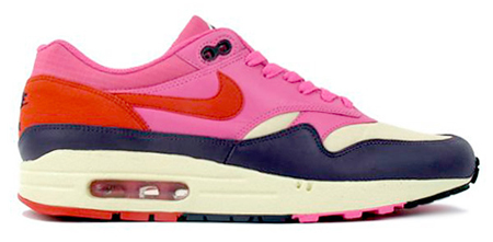 Nike Womens Air Max 1 - Alabaster / Dragon Red