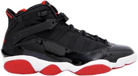 Air Jordan 6 Rings (Six Rings) Black / Varsity Red - White