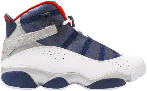 Air Jordan 6 Rings (Six Rings) Olympics White / Varsity Red - Midnight Navy - Metallic Gold