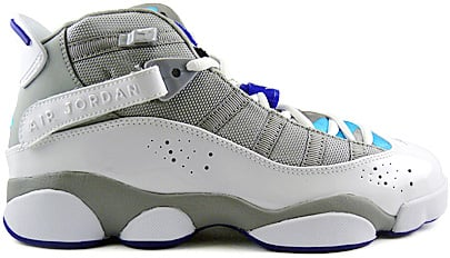 new styles 191e3 1dfea Air Jordan 6 Rings Womens (Girls) Medium Grey / White ...