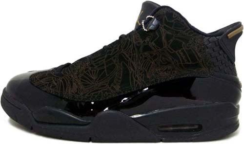 Air Jordan Dub Zero Black Gold Black / Black - Taupe