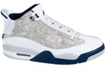 Air Jordan Dub Zero White / Midnight Navy - Neutral Grey - True Red
