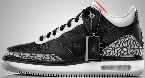Air Jordan Fusion 3 (AJF 3) Black / Fire Red - Cement Grey ...