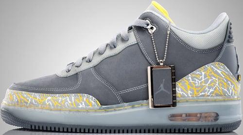 Jordan Unisex's Basketball Shoes AJF 3 Flint Grey / Varsity Maize-Silver