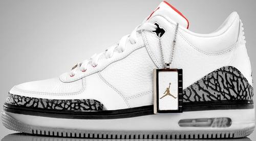 Air Jordan Fusion 3 (AJF 3) White / Fire Red - Cement - Black