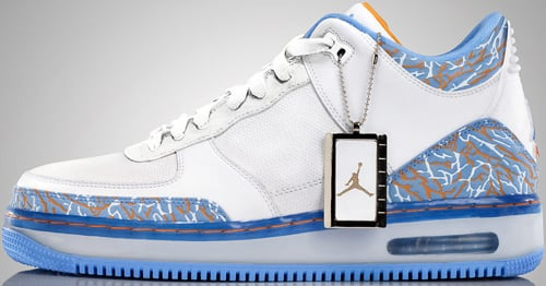 Air Jordan Fusion 3 (AJF 3) White / Sunset - University Blue