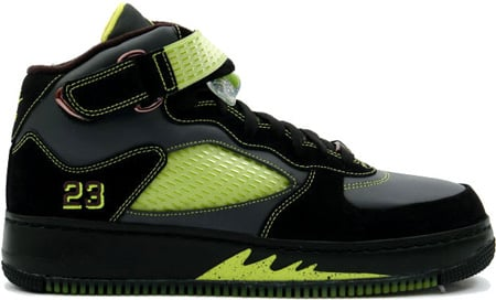 Air Jordan Fusion 5 (AJF 5) Black / Bright Cactus - Anthracite