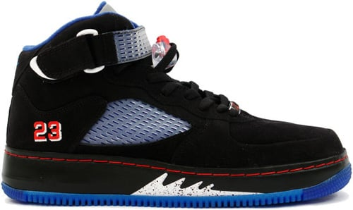 Air Jordan Fusion 5 (AJF 5) Black / Varsity Red – Blue Ribbon – New Blue