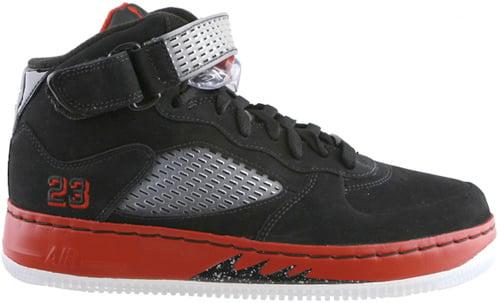 Air Jordan Fusion 5 (AJF 5) Black / Varsity Red - White